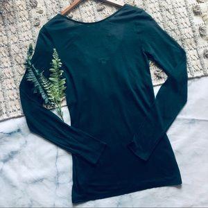 Aritzia Wilfred Emerald Long Sleeve Tee